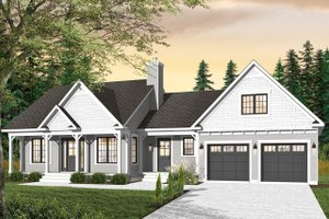 Country Exterior - Front Elevation Plan #23-2463