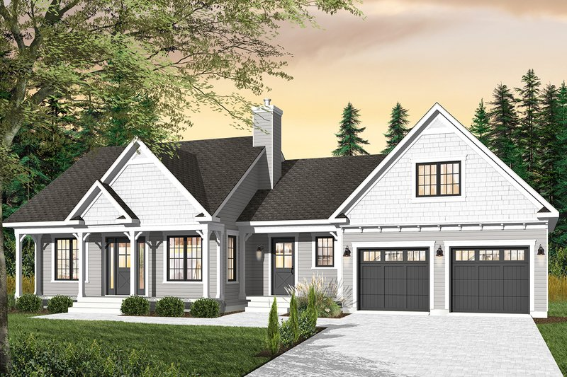 Architectural House Design - Country Exterior - Front Elevation Plan #23-2463