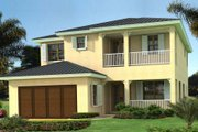 Mediterranean Style House Plan - 4 Beds 3.5 Baths 2899 Sq/Ft Plan #420-229 Exterior - Front Elevation
