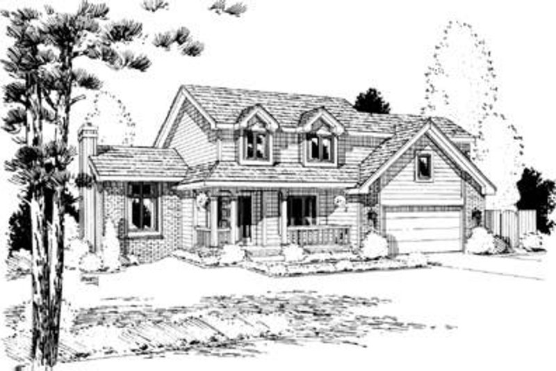 Traditional Exterior - Front Elevation Plan #20-765