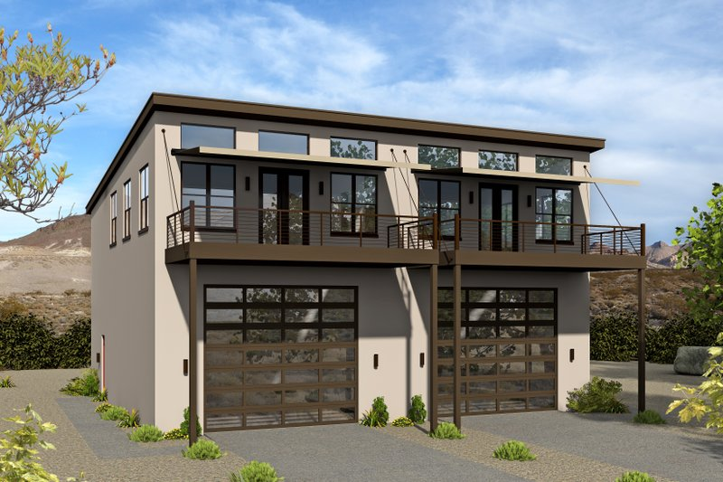Contemporary Exterior - Front Elevation Plan #932-179