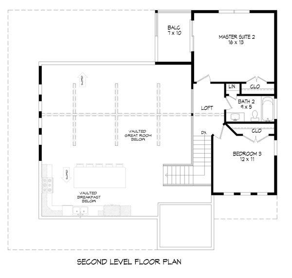 Country Floor Plan - Upper Floor Plan #932-311