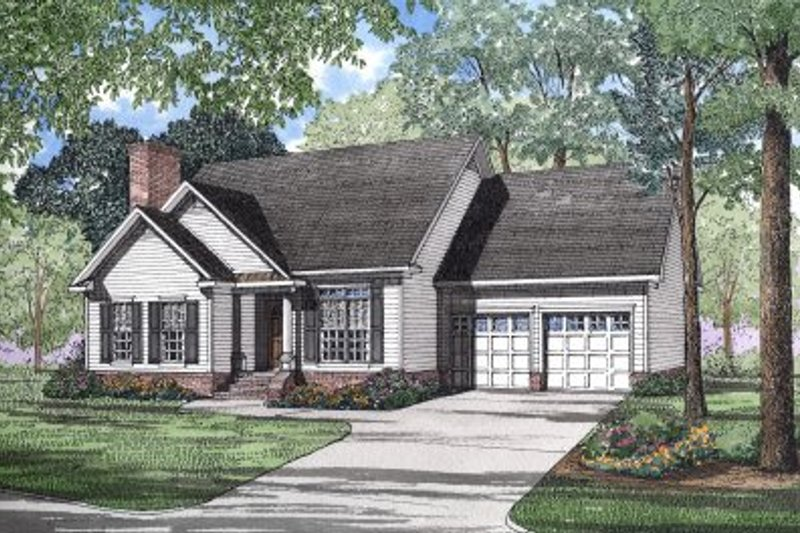 Home Plan - Traditional Exterior - Front Elevation Plan #17-1010