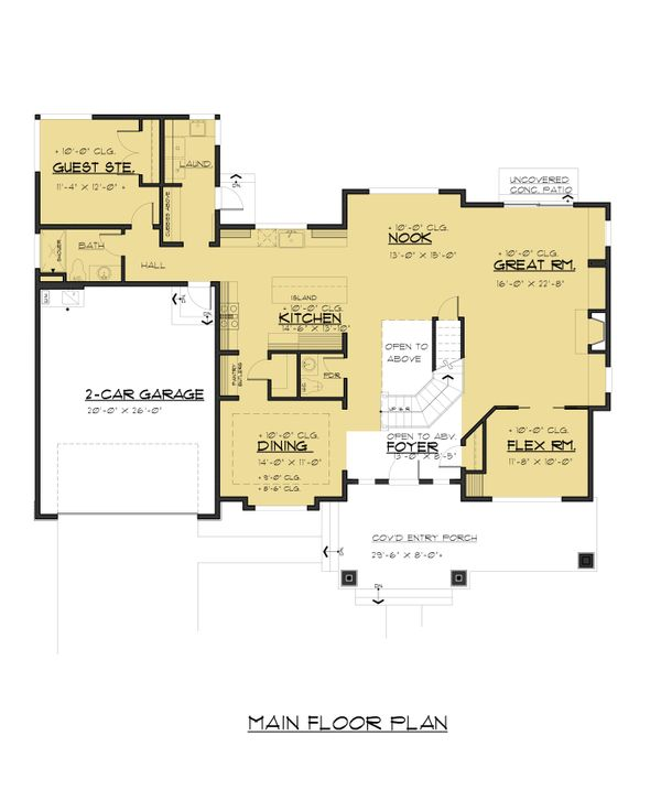 Traditional Floor Plan - Main Floor Plan Plan #1066-68