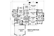 Craftsman Style House Plan - 4 Beds 3 Baths 2370 Sq/Ft Plan #51-570 Floor Plan - Main Floor