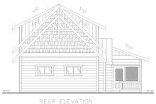 Dream House Plan - Cabin Exterior - Rear Elevation Plan #117-901