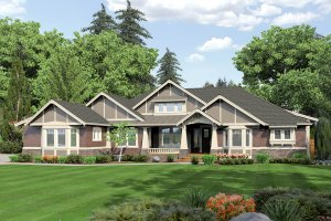 Architectural House Design - Craftsman Exterior - Front Elevation Plan #132-205