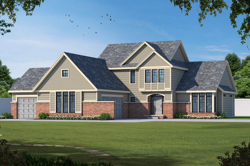 Dream House Plan - Contemporary Exterior - Front Elevation Plan #20-2474