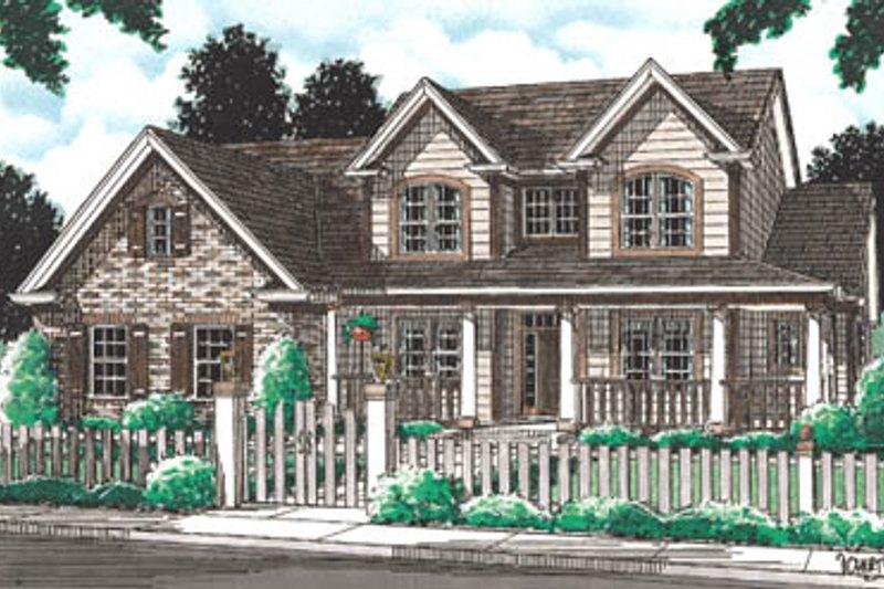 Farmhouse Exterior - Front Elevation Plan #20-192 - Houseplans.com