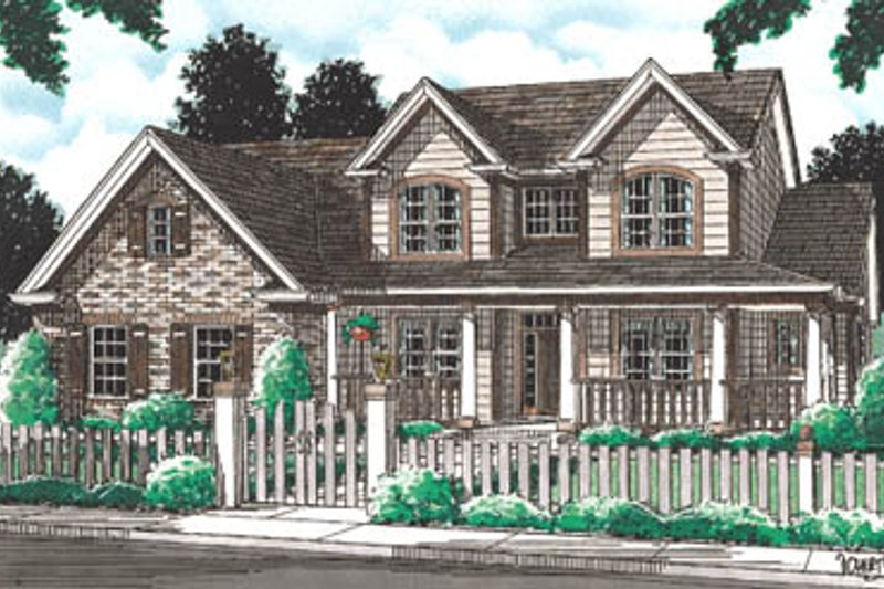 Farmhouse Exterior - Front Elevation Plan #20-192