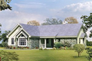 Ranch Exterior - Front Elevation Plan #57-304