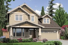 Architectural House Design - Front View - 1950 square foot Craftsman home
