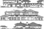 Mediterranean Style House Plan - 6 Beds 6.5 Baths 9870 Sq/Ft Plan #27-278 Exterior - Rear Elevation