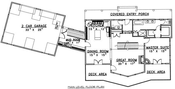 Traditional Floor Plan - Main Floor Plan Plan #117-579
