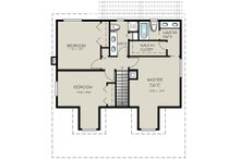 Country Floor Plan - Upper Floor Plan Plan #427-1