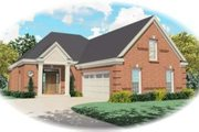 European Style House Plan - 3 Beds 2.5 Baths 2297 Sq/Ft Plan #81-776 Exterior - Front Elevation