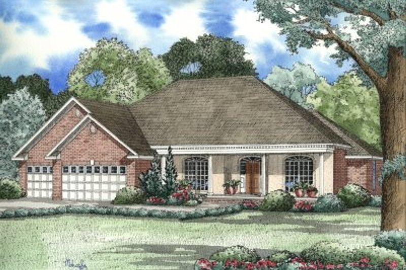 House Plan Design - Traditional Exterior - Front Elevation Plan #17-177