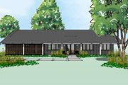 Ranch Style House Plan - 3 Beds 2 Baths 1872 Sq/Ft Plan #449-16 Exterior - Front Elevation