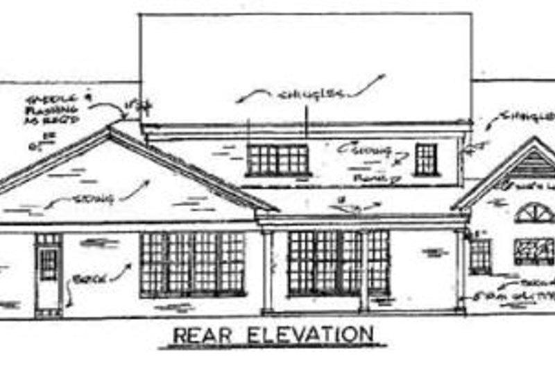 Southern Exterior - Rear Elevation Plan #34-121 - Houseplans.com