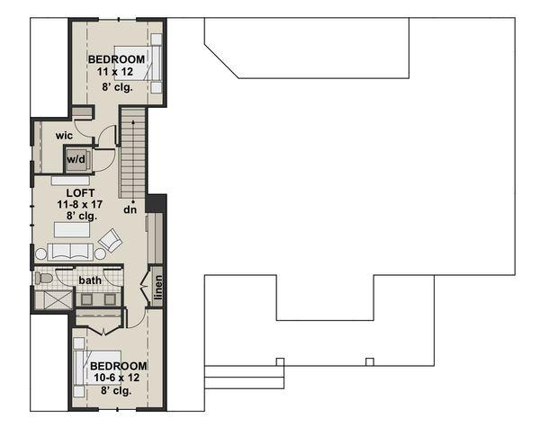 Farmhouse Style House Plan - 4 Beds 3.5 Baths 2751 Sq/Ft Plan #51-1140 Floor Plan - Upper Floor Plan