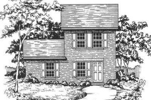 Traditional Exterior - Front Elevation Plan #30-191