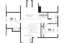 Upper level floor plan - 2500 square foot Craftsman home