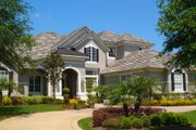 European Style House Plan - 5 Beds 5.5 Baths 4886 Sq/Ft Plan #135-181 Exterior - Front Elevation