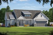 Craftsman Style House Plan - 3 Beds 2 Baths 1925 Sq/Ft Plan #20-2329 Exterior - Front Elevation