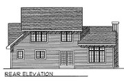 Traditional Style House Plan - 3 Beds 2.5 Baths 1791 Sq/Ft Plan #70-202 Exterior - Rear Elevation