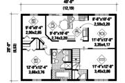 Classical Style House Plan - 2 Beds 1 Baths 1120 Sq/Ft Plan #25-4825 Floor Plan - Main Floor Plan