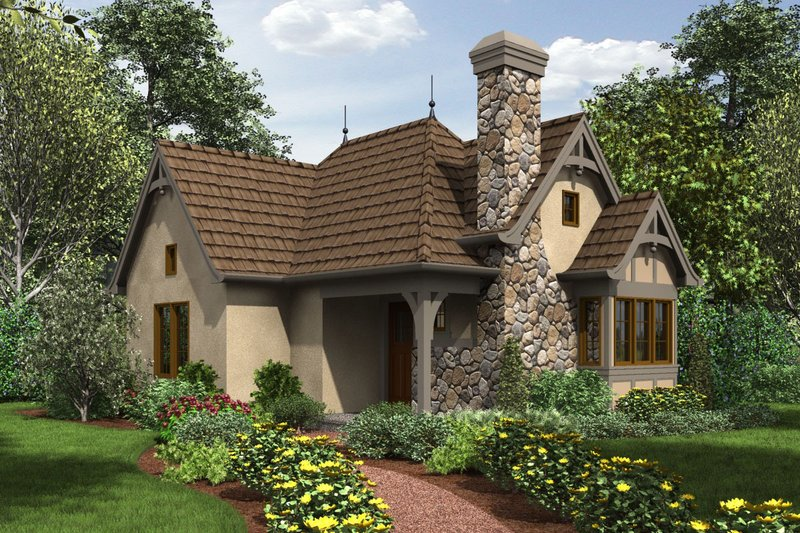 Cottage Style House Plan - 1 Beds 1 Baths 544 Sq/Ft Plan #48-645 Exterior - Front Elevation