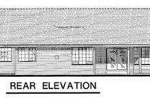 House Blueprint - Ranch Exterior - Rear Elevation Plan #18-197