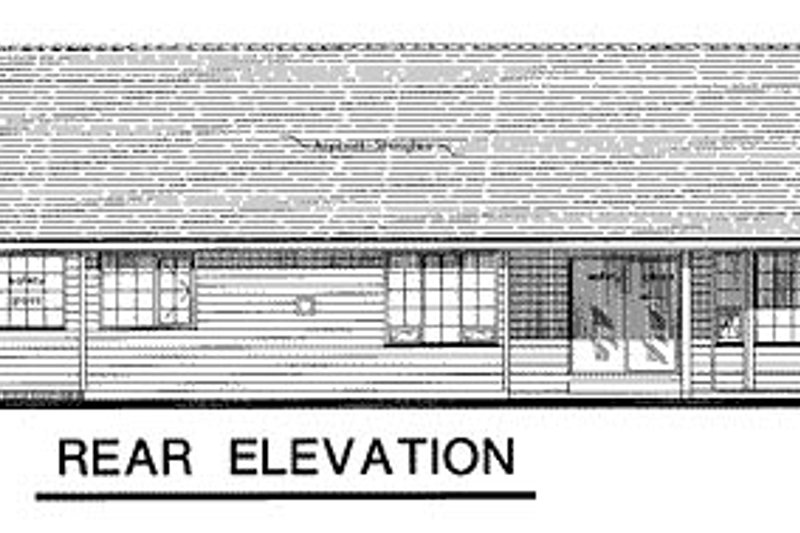 Ranch Exterior - Rear Elevation Plan #18-197 - Houseplans.com