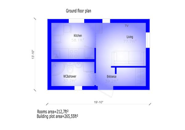 Modern Floor Plan - Main Floor Plan #549-23