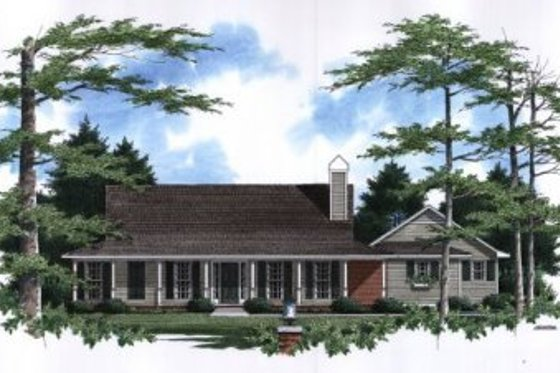 Country Exterior - Front Elevation Plan #41-116