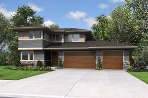 Contemporary Exterior - Front Elevation Plan #48-1005