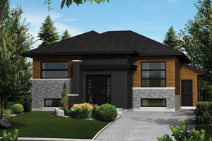 Contemporary Exterior - Front Elevation Plan #25-4354