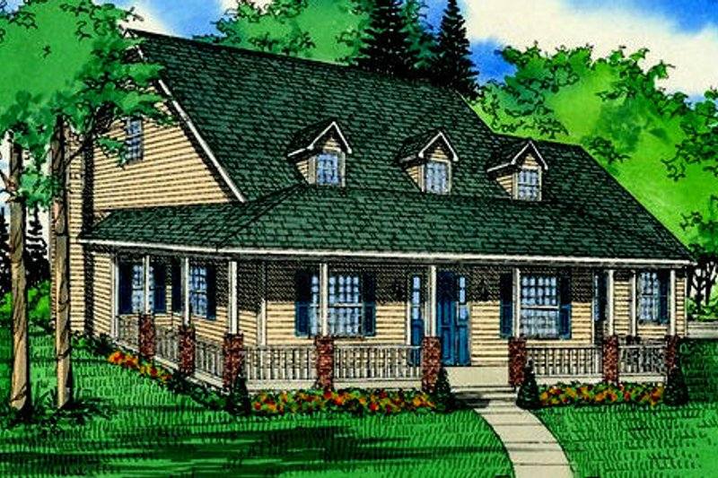 Country Exterior - Front Elevation Plan #405-122 - Houseplans.com