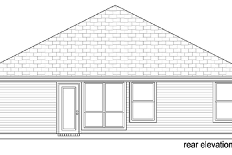 Traditional Exterior - Rear Elevation Plan #84-540 - Houseplans.com