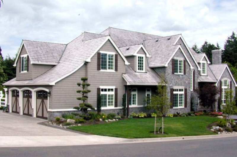 European Exterior - Front Elevation Plan #48-617 - Houseplans.com
