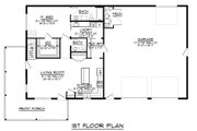 Modern Style House Plan - 4 Beds 2.5 Baths 2160 Sq/Ft Plan #1064-18 Floor Plan - Main Floor Plan