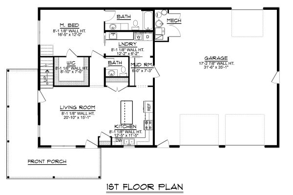 Modern Floor Plan - Main Floor Plan Plan #1064-18