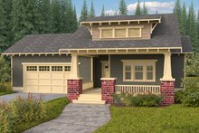 Home Plan - Bungalow Exterior - Front Elevation Plan #434-7