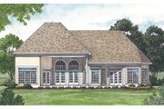 Traditional Style House Plan - 3 Beds 2.5 Baths 2585 Sq/Ft Plan #453-31 Exterior - Rear Elevation