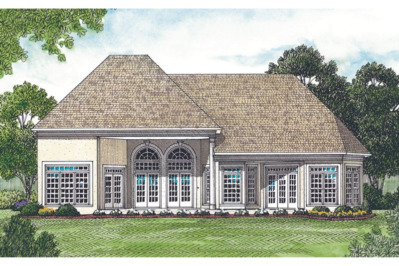 Traditional Exterior - Rear Elevation Plan #453-31 - Houseplans.com
