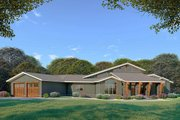 Contemporary Style House Plan - 3 Beds 2.5 Baths 3719 Sq/Ft Plan #923-86 Exterior - Front Elevation