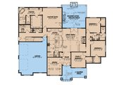 Craftsman Style House Plan - 4 Beds 3.5 Baths 2537 Sq/Ft Plan #923-172 Floor Plan - Main Floor