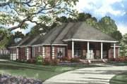 Southern Style House Plan - 4 Beds 3 Baths 2555 Sq/Ft Plan #17-1087 Exterior - Front Elevation