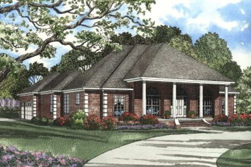 Home Plan - Southern Exterior - Front Elevation Plan #17-1087