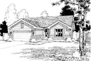 Home Plan Design - Ranch Exterior - Front Elevation Plan #20-456